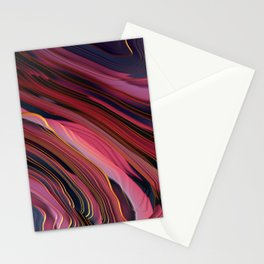 Plum Abstract Stationery Cards