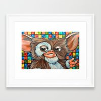 gizmo Framed Art Prints featuring Gizmo  by Portraits on the Periphery