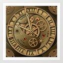 Steampunk clock gold by brittaglodde
