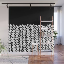 Half Knit  Black Wall Mural