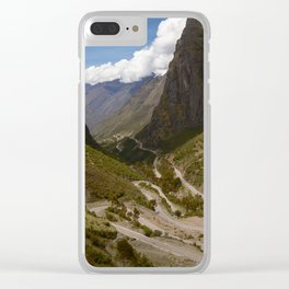 Serpentine Road for Crossing Andes Mountains Clear iPhone Case