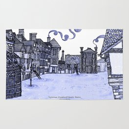 Victorian Frankwell Under Water, blue Rug