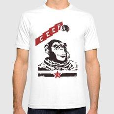 Soviet Space Monkey Mens Fitted Tee White MEDIUM