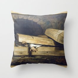 Antoine Wiertz - The Premature Burial Throw Pillow