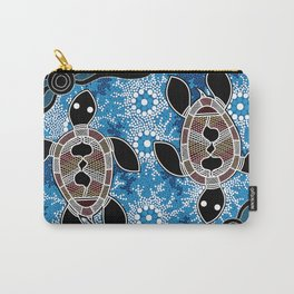 Aboriginal Art - Sea Turtles Carry-All Pouch
