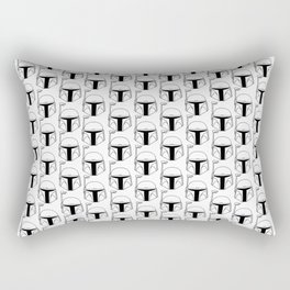 Black Bucket Rectangular Pillow