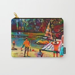 Beautiful day on artificial beach in Poland Carry-All Pouch