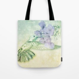Hummingbird Kisses Tote Bag