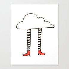 cloudy feet Canvas Print