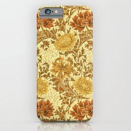 William Morris Chrysanthemums, Mustard Gold iPhone Case