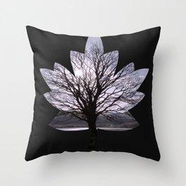 Leaf Tree Throw Pillow