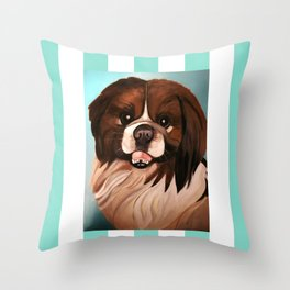 Peke Wookie Throw Pillow