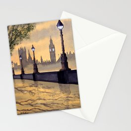 A Misty London - After Yet More Rain Stationery Cards