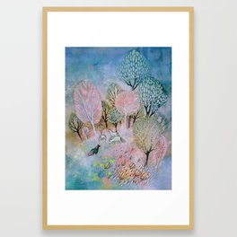 Evening Fog Framed Art Print