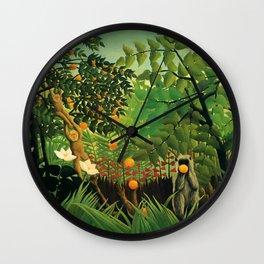 "Henri Rousseau ""Exotic landscape"", 1910 Wall Clock"