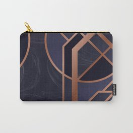 Violet Art Deco Carry-All Pouch