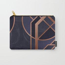 Violet Art Deco Carry-All Pouch