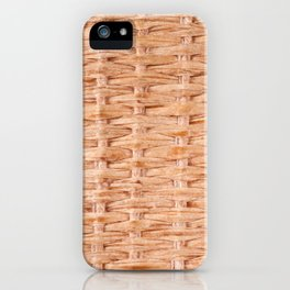 Beige interlace wooden texture abstract iPhone Case