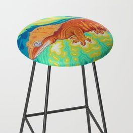 Red Crested Gecko Bar Stool