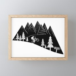 mountain bike MTB cycling mountain biker cycling bicycle cyclist gift Framed Mini Art Print