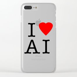 I love Artificial Intelligence NY Parody Clear iPhone Case