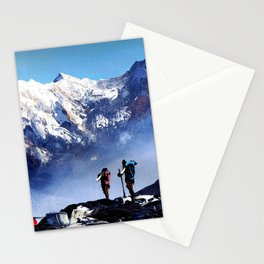 Panoramic View Of Ama Dablam Peak Everest Mountain Stationery Cards