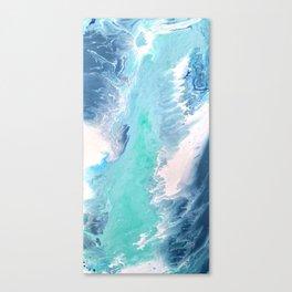 Waves Fluid Acrylic Abstract Canvas Print