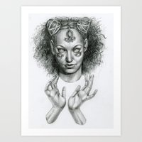 scary Art Prints featuring Scary by Taylor Bryn Illustration