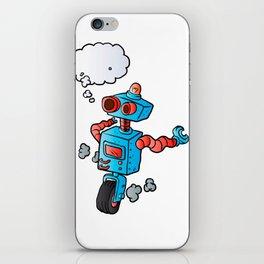 robot on wheel . iPhone Skin