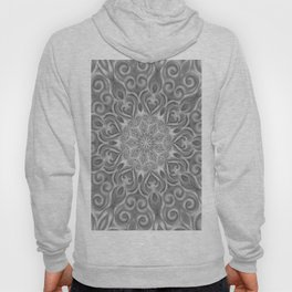 Gray Center Swirl Mandala Hoody