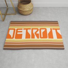 Detroit Travel Poster Rug