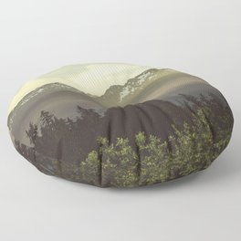 Morning in the Mountains Floor Pillow