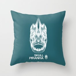 Skull Collection - Piranha - Throw Pillow