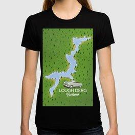 Lough Derg Ireland Map T-shirt