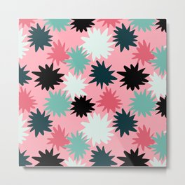 Candy Star Burst Metal Print