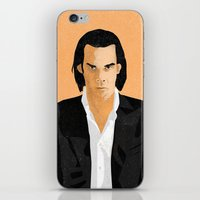 nick cave iPhone & iPod Skins featuring Nick Cave by Andy Rogerson