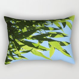 Leaves and Shadows   Barwon Heads   Green Leaves Art Print Rectangular Pillow