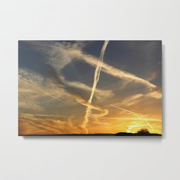 Sky Writing Metal Print