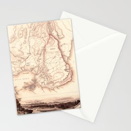 Map Of Sicily 1839 Stationery Cards