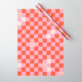 SmileyChecks Wrapping Paper