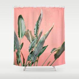 Palm on pink | Botanical photography print | Spain travel photo art Shower Curtain