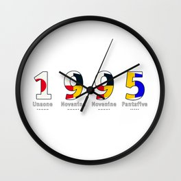 1995 - NAVY - My Year of Birth Wall Clock