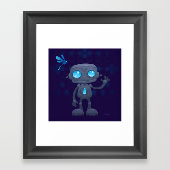 Waving Robot Framed Art Print