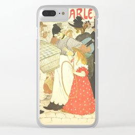"""Théophile Steinlen """"The Street (La rue), poster for the printer Charles Verneau"""" Clear iPhone Case"""