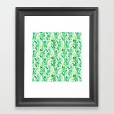 Fern Palm Green Framed Art Print