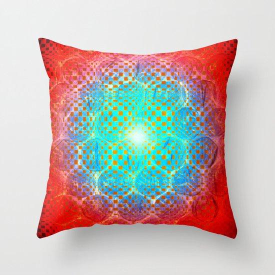 Alien Egg Cluster Throw Pillow