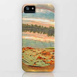 Rowing boat on the shore iPhone Case