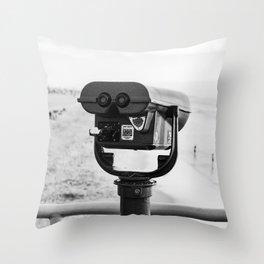 Viewer at Manhattan Beach Pier Throw Pillow