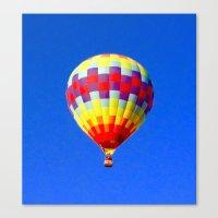 hot air balloon Canvas Prints featuring  hot air balloon by Lavender~Ramonde