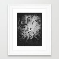 monsters Framed Art Prints featuring Monsters by Michael Brack